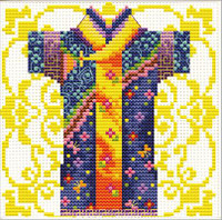 Samurai Blue No Count Cross Stitch Kit By Riolis