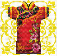 Samuria Rose No Count Cross Stitch Kit By Riolis
