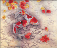 Koi Carp No Count Cross Stitch Kit By Riolis