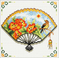 Nasturtuim Fan No Count Cross Stitch Kit By Riolis