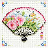 Rose Fan No Count Cross Stitch Kit By Riolis