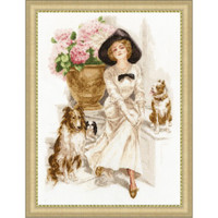 Young Lady Cross Stitch Kit by Golden Fleece