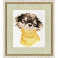 Terrier Cross Stitch Kit by Golden Fleece