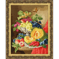 Still Life With Pumpkins Cross Stitch Kit by Golden Fleece
