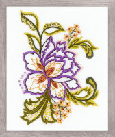 Flower Sketch Printed Embroidery Kit By Riolis