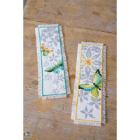 Vervaco Butterfly Counted Cross Stitch Kit Bookmarks Set of 2