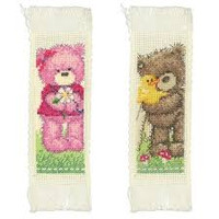 Counted Cross Stitch Kit: Bookmarks: Popcorn (Set of 2)  By Vervaco