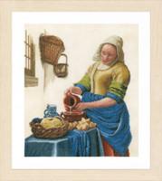 Milk Lady Cross Stitch Kit by Lanarte