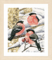 Bullfinch Cross Stitch Kit by Lanarte