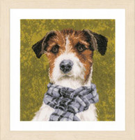Dog Cross Stitch Kit by Lanarte