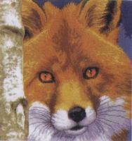 Fox Cross Stitch Kit by Lanarte