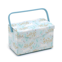 Unicorn Dash  Fold Over Lid Sewing Box By Hobby Gift