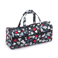 Hearts Black  Knit Bag By Hobby Gift