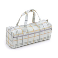 Derwent Check Maize  Knit Bag By Hobby Gift