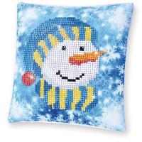 Snowman Cap Pillow Craft Kit By Diamond Dotz