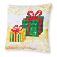 Christmas Gifts Pillow Craft Kit By Diamond Dotz