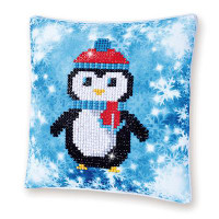 Christmas Penguin Pillow Craft Kit By Diamond Dotz