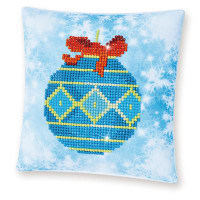 Blue Bauble Pillow Craft Kit By Diamond Dotz