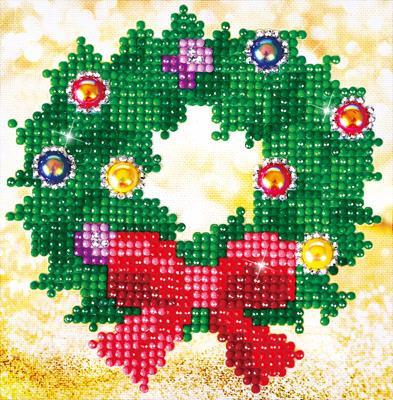Christmas Wreath Picture Craft Kit By Diamond Dotz