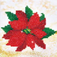 Poinsettia Picture Craft Kit By Diamond Dotz