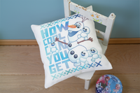 Disney: Printed Pillow: Cover Olaf and Friends Embroidery Kit