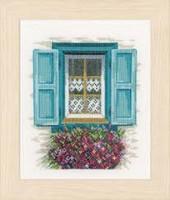 Window with Shutters Cross Stitch Kit by Lanarte