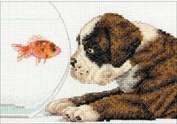 Dog Bowl Cross Stitch Kit by Dimensions