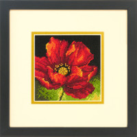 Red Poppy Needlepoint Kit by Dimensions