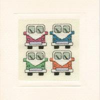 Camper Van Mini Card Cross Stitch Kit By Textile Heritage