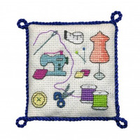 Sewing Pincushion  Cross Stitch Kit by Textile Hertiage