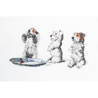 Man's Best Friend - Scrap, Tatty & Pip Cross Stitch Kit by Cecil Aldin