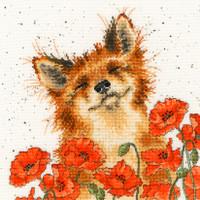 Poppy Field Cross Stitch Kit By Bothy Threads