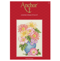 Cross Stitch Kit: Starter: Floral Spray By Anchor