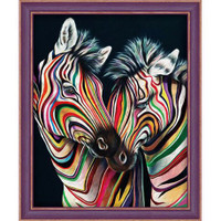 Colourful Zebras Diamond painting Kit