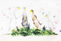 Gaggle of Geese Cross Stitch Kit by Charlotte Rennie