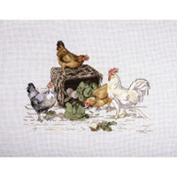 In the Yard Cross Stitch Kit by Rural England