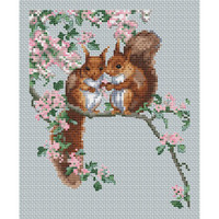 Squirrels Secret Cross Stitch Kit by The Natural World