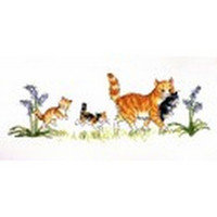 Mittens and Her Kittens Cross Stitch Kit by Molly Brett