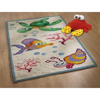 Latch Hook Rug Kit - Seabed