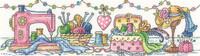 The Sewing Room Cross Stitch Kit by Heritage Crafts