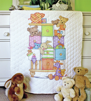 Stamped Cross Stitch: Quilt: Baby Drawers By Dimensions