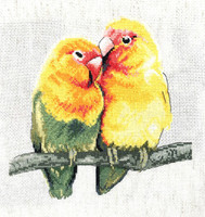 Love birds Cross Stitch Kit by Pollyanna Pickering