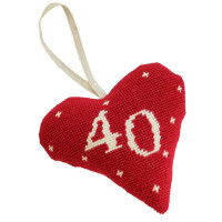 Birthday Celebration Heart 40 Tapestry Kit By Cleopatra