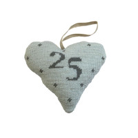 Birthday Celebration Heart 25 Tapestry Kit By Cleopatra