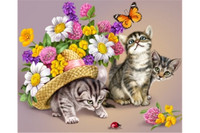 DIAMOND PAINTING KIT 3 KITTENS
