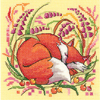 Woodland Creatures - Fox Cross Stitch Kit By Hertitage