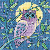 Woodland Creatures - Owl Cross Stitch Kit By Hertitage