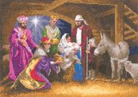 Nativity Cross Stitch Kit By Heritage Crafts