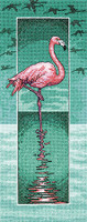 Flamingo Cross Stitch Kit By Heritage Crafts