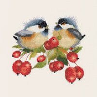 Berry Chick-Chat Cross Stitch Kit By Heritage